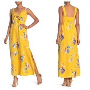 $110 The Vanity Room NWT Nordstrom yellow maxi